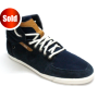 Blue High Neck Sneaker Shoe 1