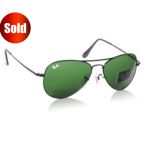Ray Ban Dark Bottle Green Sunglass