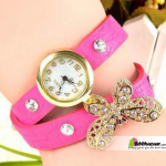 Butterfly Diamond Watch Pink Color