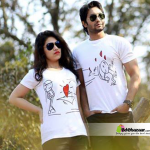 Valentines Couple T-shirt (White Color)