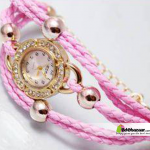 Ladies pink Bracelet Watch with ball