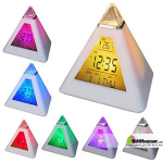 7 Color Led pyramid clock with temperature