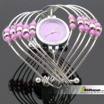 Bangles Watch With pink Stone