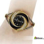 Borston Brand Ladies Designer Watch Black & Golden
