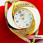 Borston Brand Ladies Designer Watch Golden