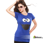 Cookie Monster Blue Ladies T-shirt