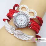Crystal Wing Women's bracelet Watch (red)