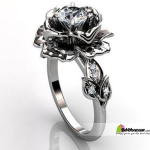 Exclusive Rose Finger Ring