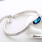 Fashion Silver Bracelets blue stone