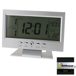Sound Control Back-Light LCD Clock