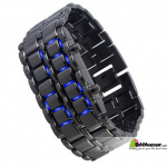 bdebazaar Braclite LED Samurai Watch Blue