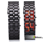 Bracelet LED Samurai Watch RED
